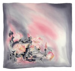 AM7-219 Hand-painted silk scarf, 70x70 cm