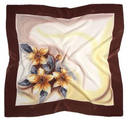 AM-379 Hand-painted silk scarf, 90x90cm
