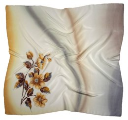 AM-385 Hand-painted silk scarf, 90x90cm
