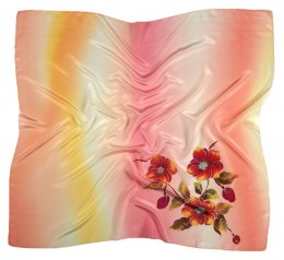 AM-387 Hand-painted silk scarf, 90x90cm