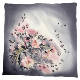 AM-421 Hand-painted Silk Scarf