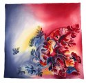 AM-424 Hand-painted silk scarf, 90x90cm (2)