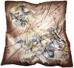 Hand-painted silk scarf, 140x140cm