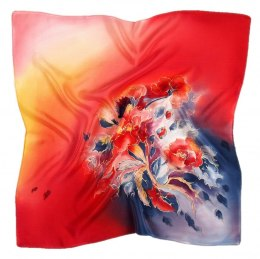 AM-537 Hand-painted silk scarf, 55x55 cm