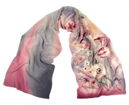 SZ-281 Hand-painted Silk Shawl