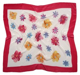 AM-390 Hand-painted silk scarf, 90x90cm