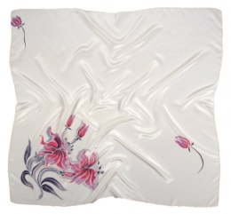AM-603 Hand-painted silk scarf, 90x90cm