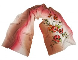 SZ-276 Hand-painted Silk Shawl