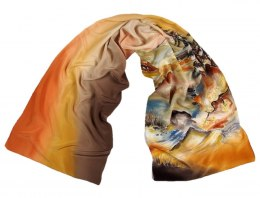 SZ-288 Hand-painted Silk Shawl