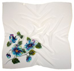 AM-605 Hand-painted silk scarf, 90x90cm