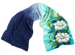 SZ-097 Hand-painted Silk Shawl