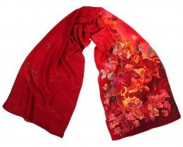 SZ-103 Hand-painted Silk Shawl