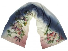 SZ-250 Hand-painted Silk Shawl