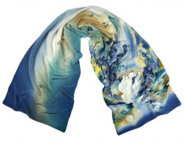 SZ-336 Hand-painted Silk Shawl