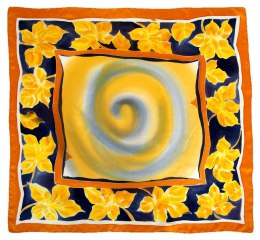 AM-609 Hand-painted Silk Scarf