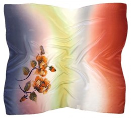 AM-457 Hand-painted silk scarf, 90x90cm