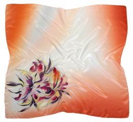 AM-461 Hand-painted silk scarf, 90x90cm