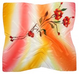 AM-465 Hand-painted silk scarf, 90x90cm