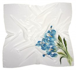 AM-468 Hand-painted silk scarf, 90x90cm