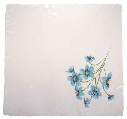 AM-471 Hand-painted silk scarf, 90x90cm