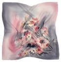AM-538 Hand-painted silk scarf, 55x55 cm