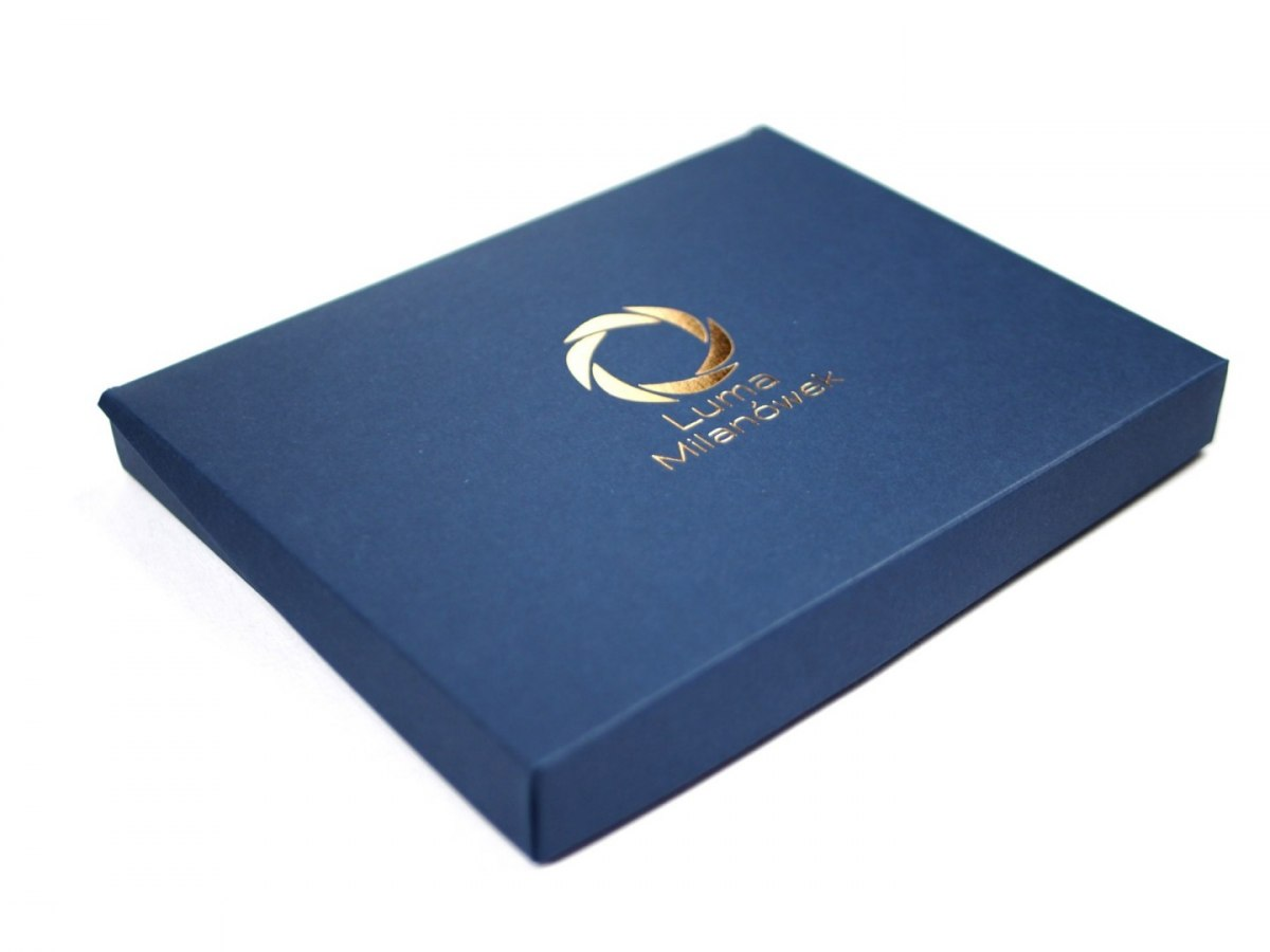 Box with logo - dark blue