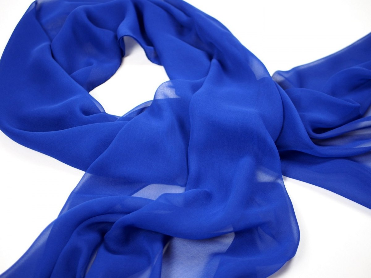 SZZ-002 One-color silk scarf - Georgette, 200x65cm (2)