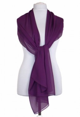 SZZ-005 Violet Single-color silk scarf - Georgette, 200x65cm