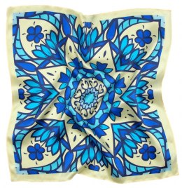 AD5-156 Small Silk Scarf Printed, 55x55 cm