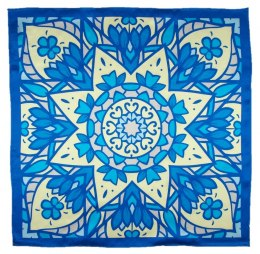 AD5-158 Small Silk Scarf Printed, 55x55 cm