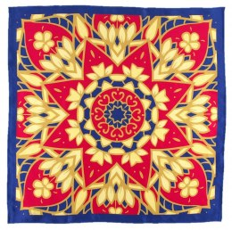AD5-159 Small Silk Scarf Printed, 55x55 cm