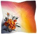 AM-482 Hand-painted silk scarf, 90x90cm