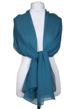 SZZ-010 Single Color Green Silk Shawl - Georgette, 200x65cm