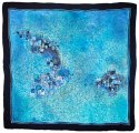 AM-485 Hand-painted silk scarf, 90x90cm (2)