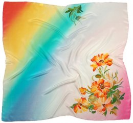 AM-662 Hand-painted silk scarf, 90x90cm