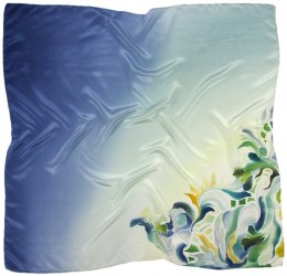 AM-674 Hand-painted silk scarf, 90x90cm