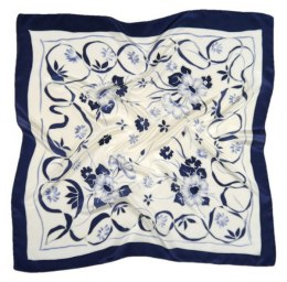 AM-555 Hand-painted silk scarf, 55x55 cm