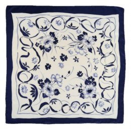 AM5-555 Hand-painted silk scarf, 55x55 cm