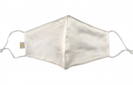 Silk mask with filter pocket - White