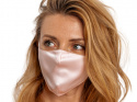 Silk mask with filter pocket - Light pink (1)