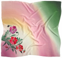 AM-689 Hand-painted silk scarf, 90x90cm