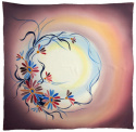 AM-694 Hand-painted silk scarf, 90x90cm (1)
