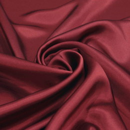 Burgundy silk satin scarf, 90x90cm