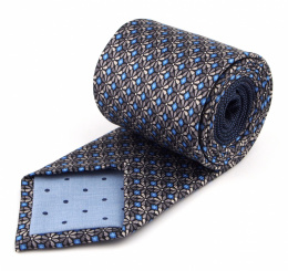 IT-409 Gray Floral Silk Tie - MILANO