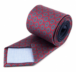 Red Silk Tie with a Pattern - MILANO