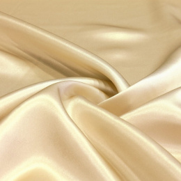 Light beige silk satin scarf, 90x90cm