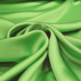 Light green silk satin scarf, 90x90cm