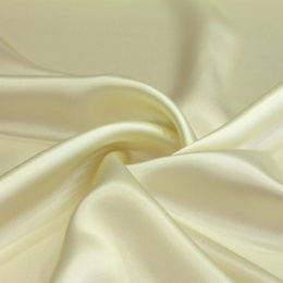 Cream silk satin scarf, 90x90cm