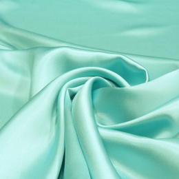 Blue and Turquoise silk satin scarf, 90x90cm