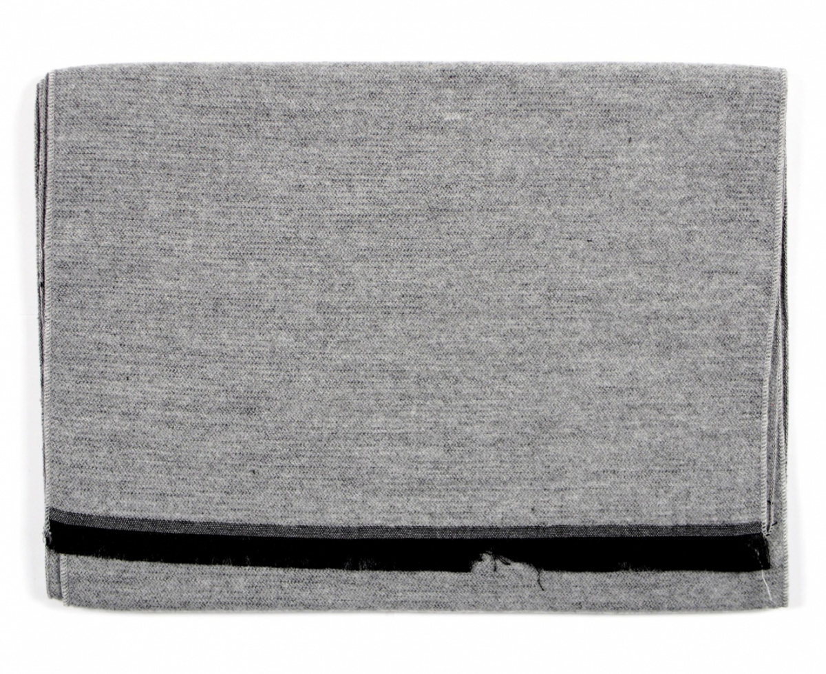 Men's Warm Gray Scarf - Viscose / Acrylic (3)